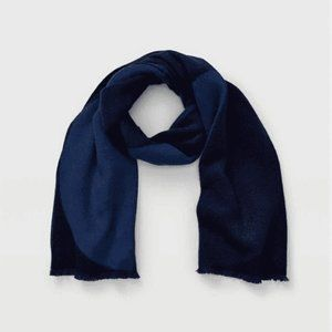 Club Monaco Circle Blanket Scarf in Blue Multi